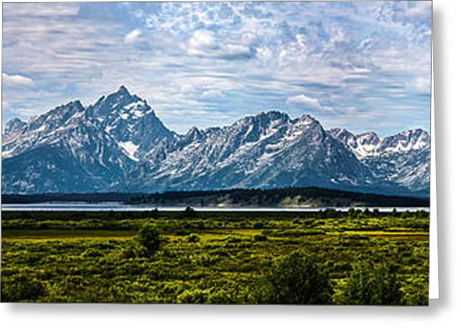 Tetons - Panorama Greeting Card