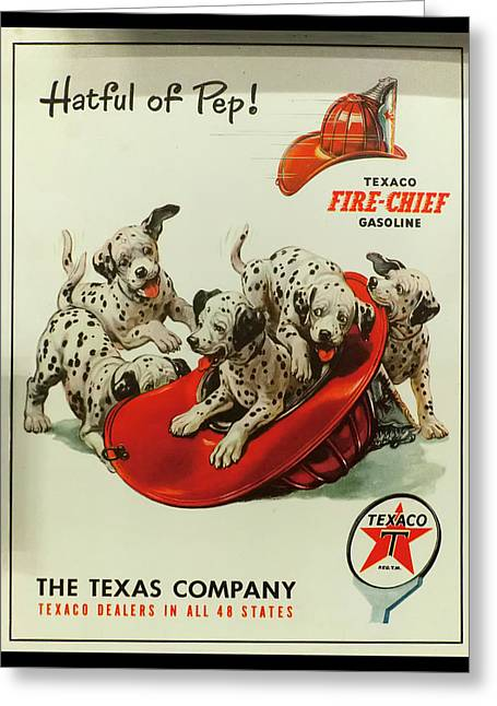 Greeting Card featuring the photograph Texaco Antique Sign by Chris Flees