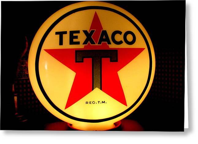 Texaco Greeting Card by Lisa Jayne Konopka