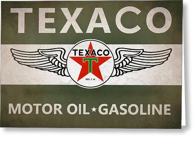 Transportation Greeting Cards - Texaco Motor Oil Greeting Card by Mark Rogan