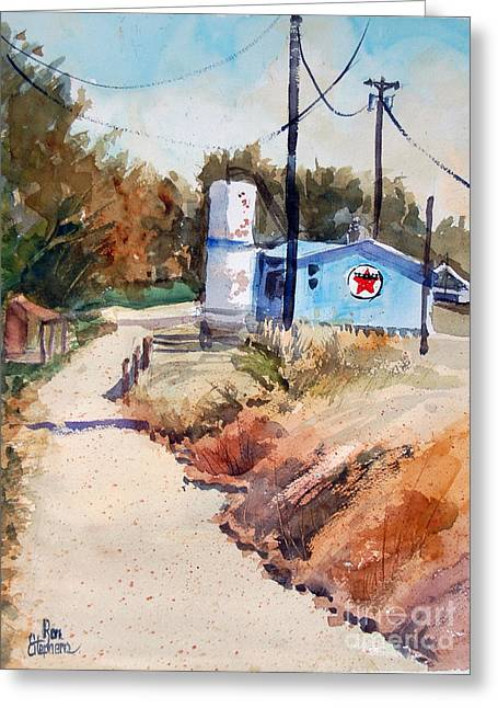 Texaco Greeting Card by Ron Stephens