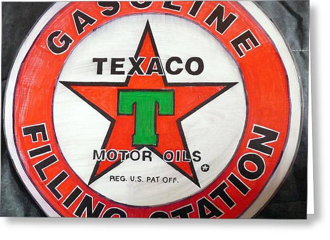 Texaco Sign Greeting Card