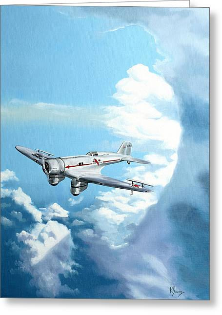 Texaco Sky Chief Greeting Card by Kenneth Young