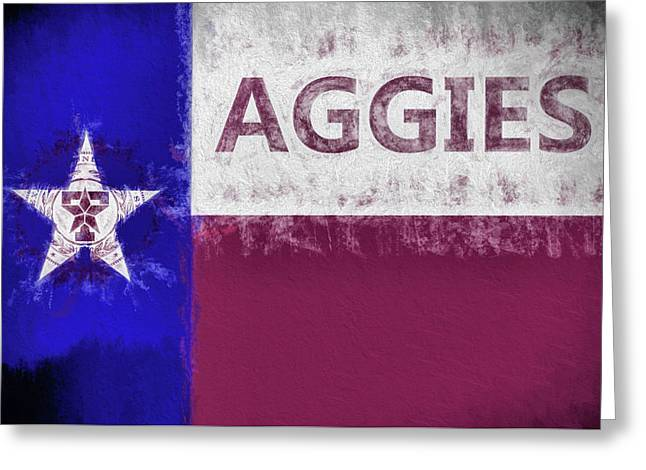Texas Aggies State Flag Greeting Card by JC Findley