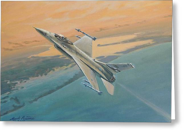 Texas Air National Guard F-16 Greeting Card