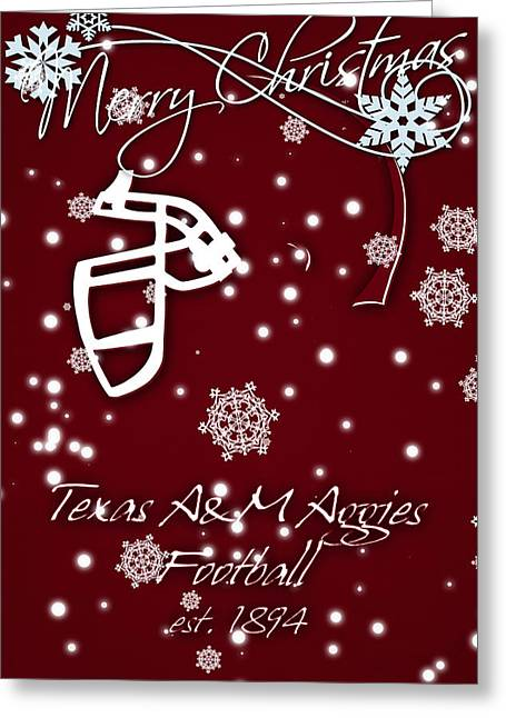 Texas Am Aggies Christmas Card Greeting Card by Joe Hamilton