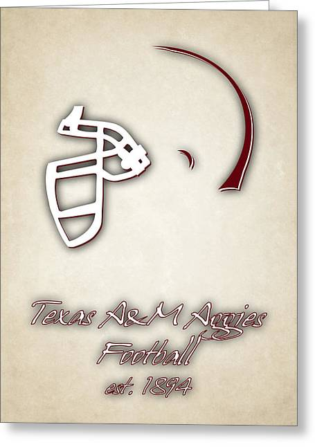 Texas Am Aggies Helmet 2 Greeting Card