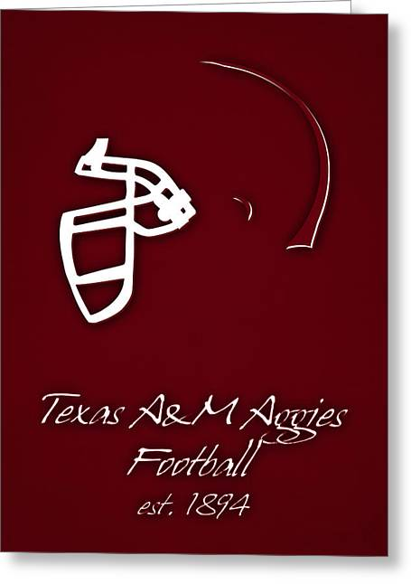 Texas Am Aggies Helmet Greeting Card