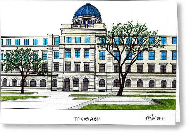 Texas Am University Greeting Card by Frederic Kohli