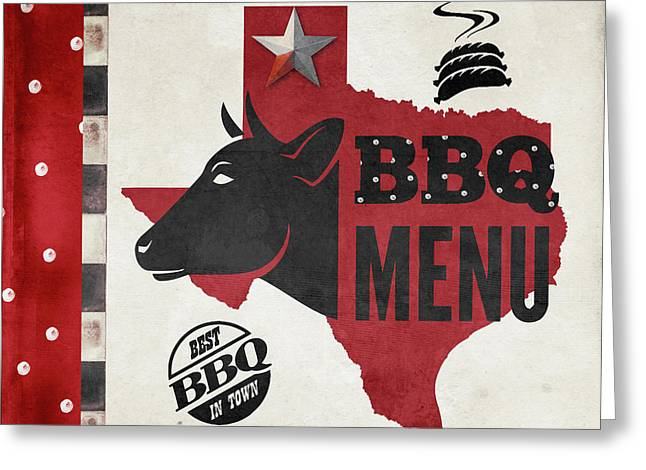 Texas Barbecue 4 Greeting Card by Mindy Sommers