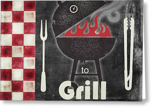 Texas Barbecue I Greeting Card by Mindy Sommers