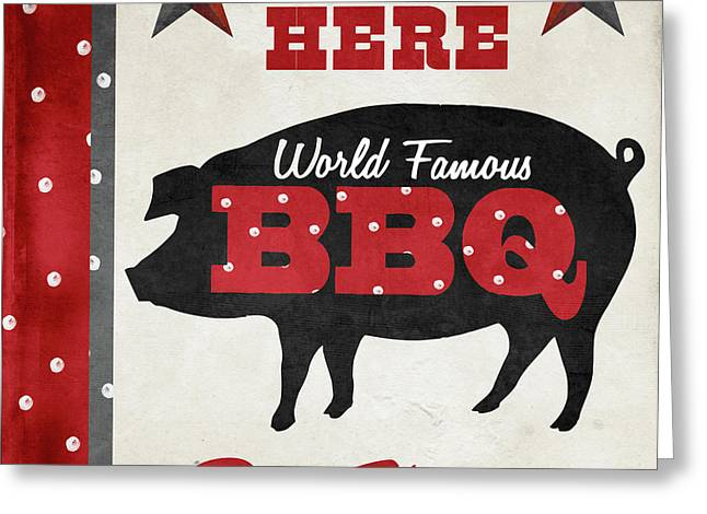Texas Barbecue II Greeting Card by Mindy Sommers
