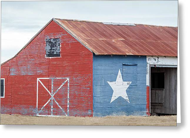Texas Barn With Goats And Ram On The Side Greeting Card