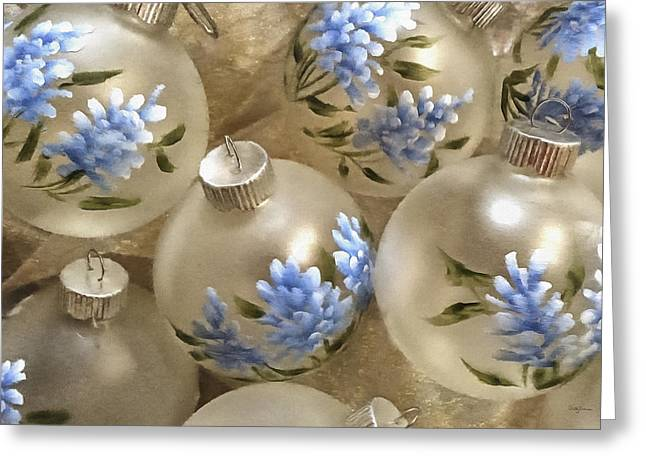 Texas Bluebonnet Ornaments Greeting Card