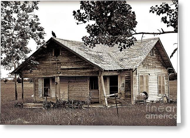 Texas Buzzard Farmhouse I Greeting Card by Chris Andruskiewicz