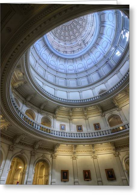 Texas Capitol Dome Interior Greeting Card