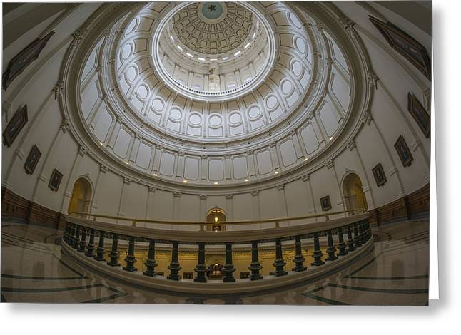 Texas Capitol Dome Wide Angle Greeting Card
