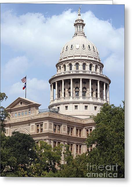 Texas Capitol Greeting Card by Jeannie Burleson