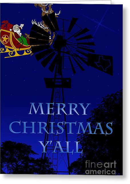 Texas Christmas Card Greeting Card