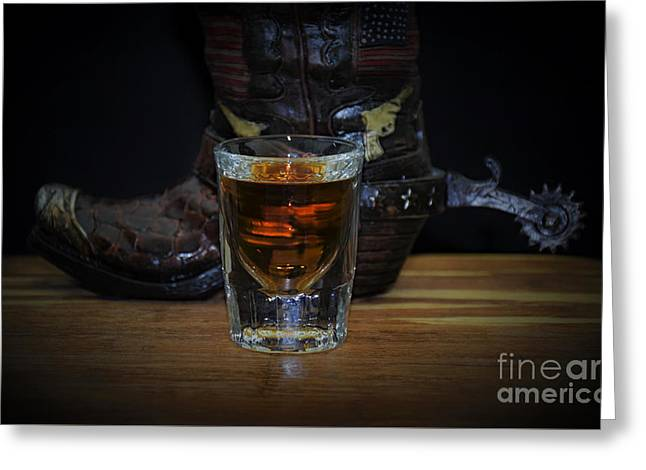 Texas Drink Greeting Card by Ray Shrewsberry