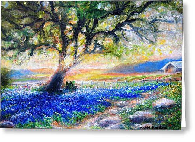 Texas Fanfare Greeting Card by Patti Gordon