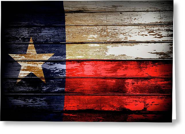 Texas Flag Greeting Card by Les Cunliffe