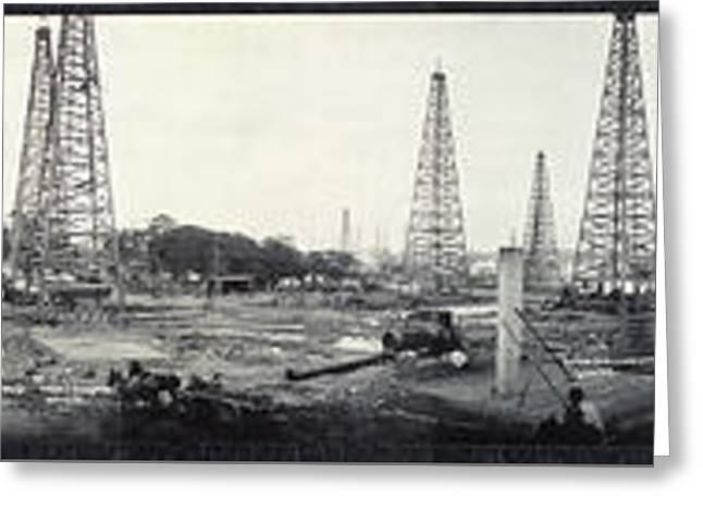 Texas Goose Creek Oil Field 1917 Greeting Card