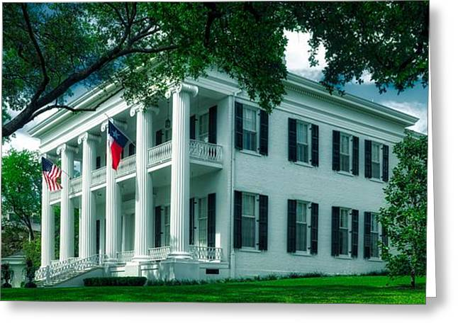 Texas Governor's Mansion Greeting Card by Mountain Dreams