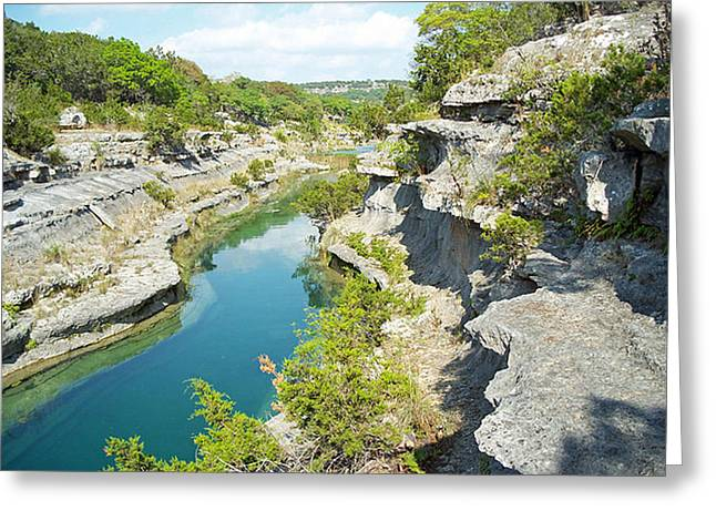 Texas Hill Country Greeting Card by Rebecca Shupp
