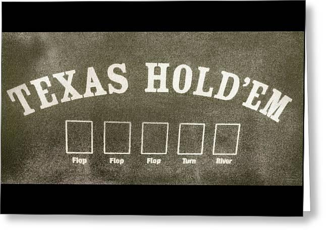 Texas Hold Em Greeting Card