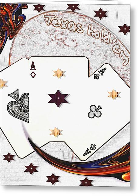 Texas Hold Em Poker Greeting Card