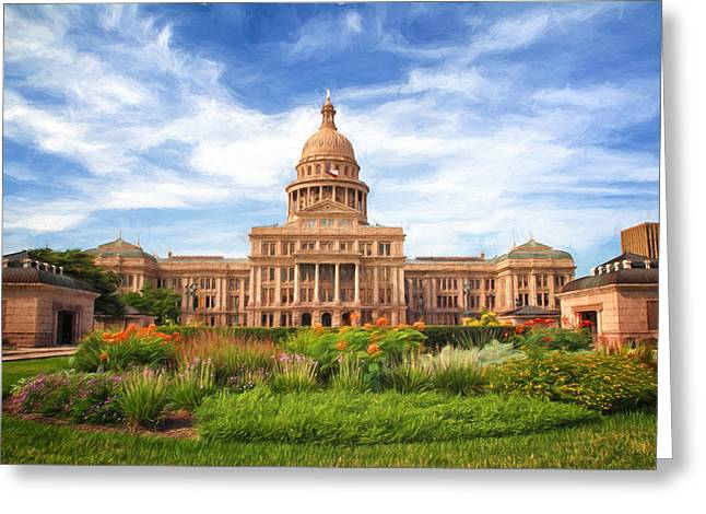 Texas Impressions Texas State Capitol II Greeting Card by Joan Carroll