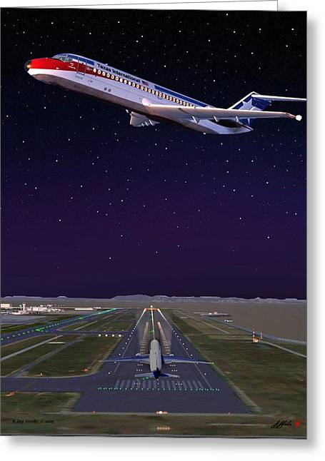 Texas International Ato Cab Greeting Card by G Jay Jacobs