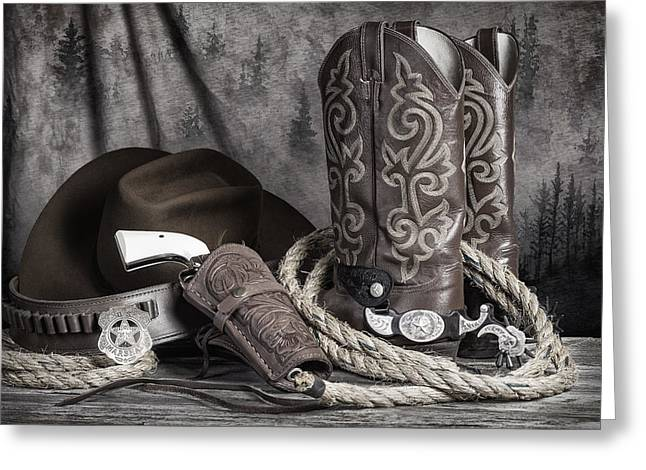 Texas Lawman Greeting Card by Tom Mc Nemar
