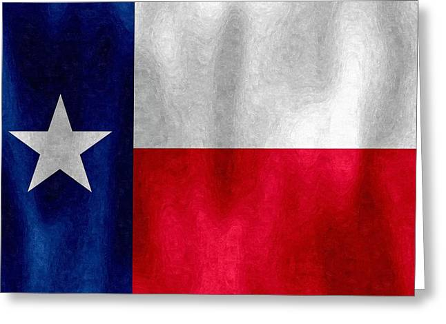 Texas Lonestar Flag In Digital Oil Greeting Card