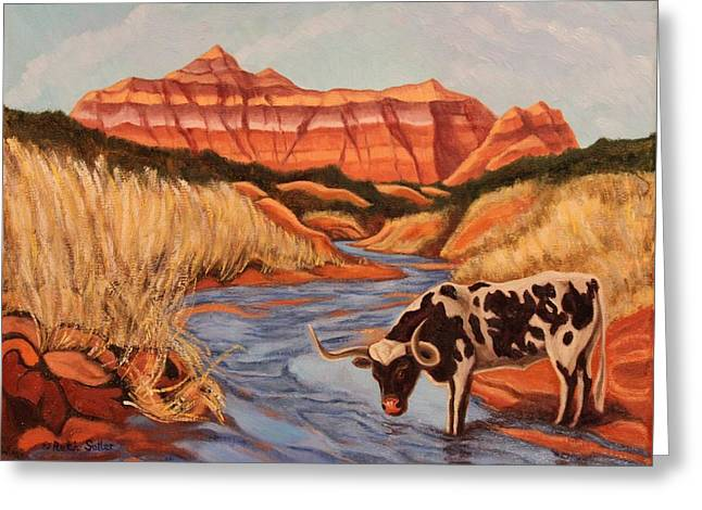 Texas Longhorn In Palo Duro Canyon Greeting Card