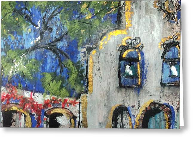 Texas Mission Greeting Card by Suzanne Kfoury