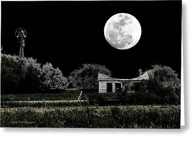 Greeting Card featuring the photograph Texas Moon by Travis Burgess