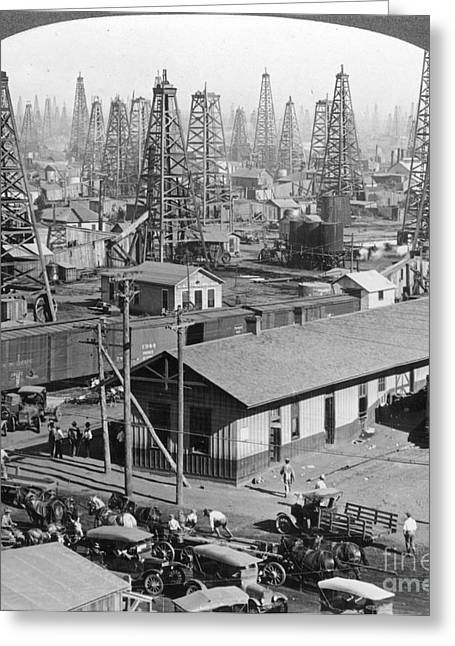 Texas: Oil Field, 1930 Greeting Card