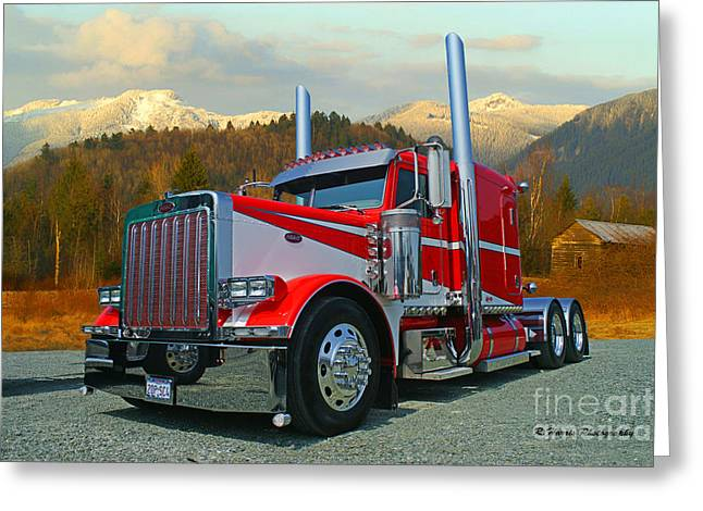 Texas Peterbilt Greeting Card