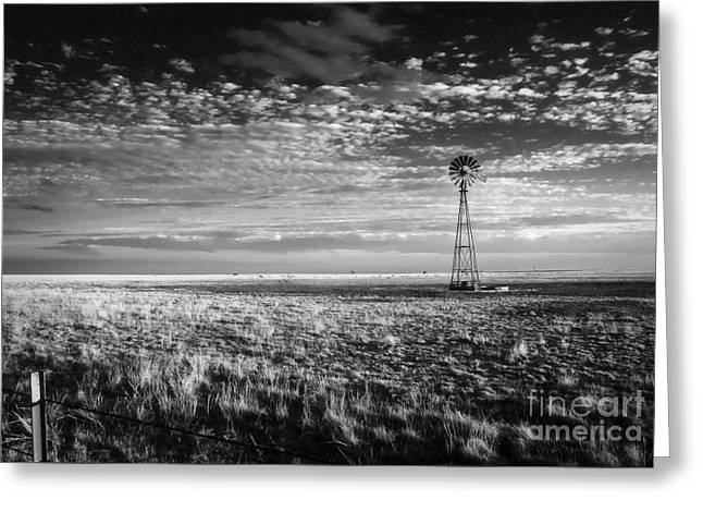 Texas Plains Windmill Greeting Card
