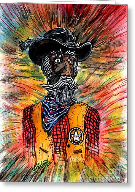 Texas Ranger Greeting Card by Don Hand
