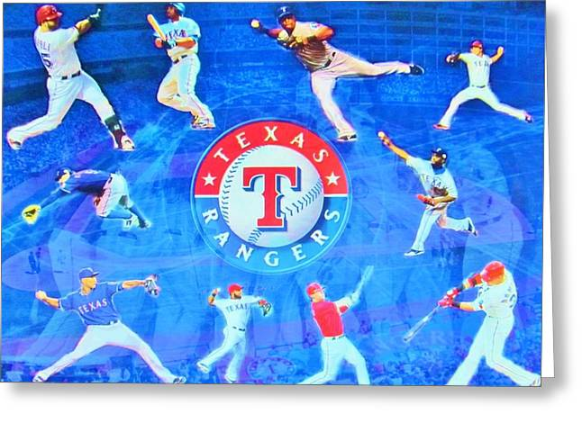 Texas Rangers 2015 Greeting Card by Donna Wilson
