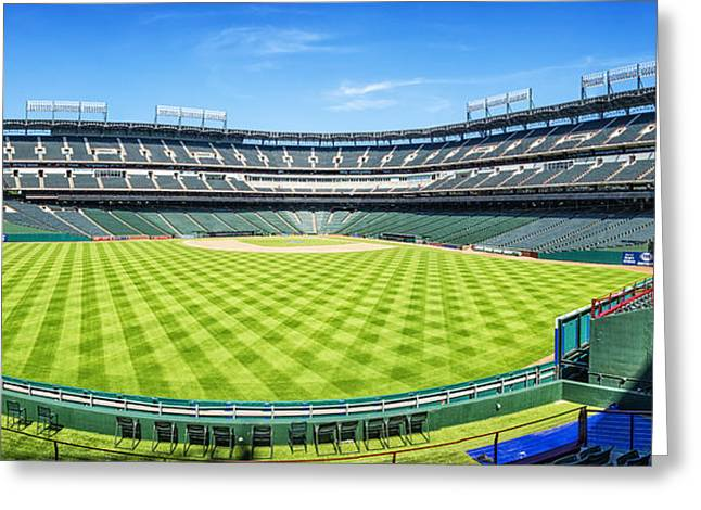 Texas Rangers Ballpark Waiting For Action Greeting Card by Joan Carroll
