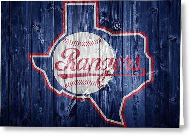 Texas Rangers Barn Door Greeting Card