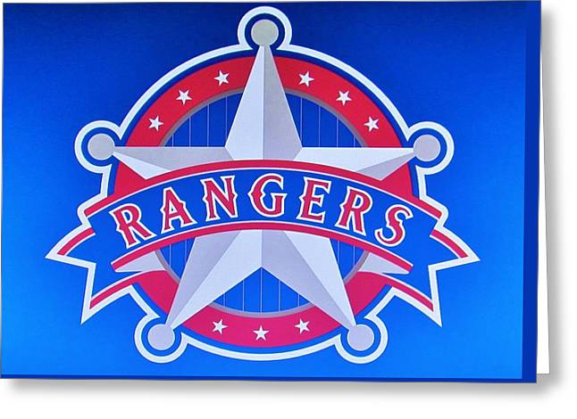 Texas Rangers Greeting Card by Donna Wilson