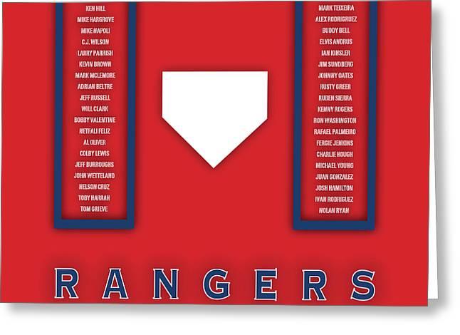 Texas Rangers Art - Mlb Baseball Wall Print Greeting Card