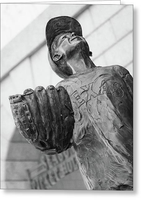Texas Rangers Little Boy Statue Greeting Card
