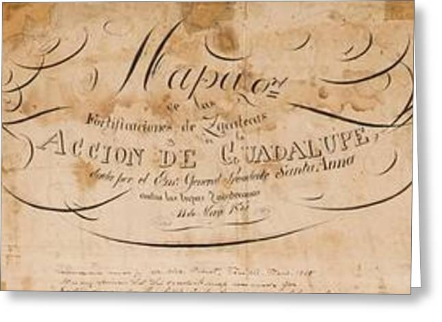 Texas Revolution Santa Anna 1835 Map For The Battle Of San Jacinto  Greeting Card