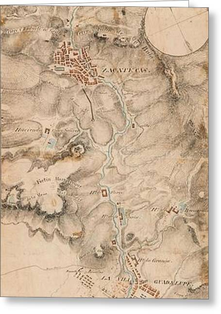 Map Of Mexico Greeting Cards Page Of Fine Art America - Battle of san jacinto map